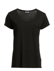 EMILIA SS TOP NOOS - Black