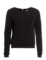 DYLANEY L/S JACQUARD SWT - Black
