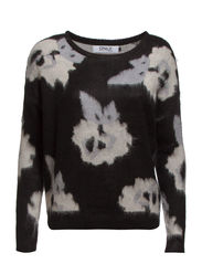 BLOOMING L/S PULLOVER KNT - Black