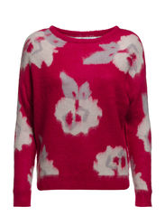 BLOOMING L/S PULLOVER KNT - Sangria
