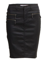 OLIVIA COATED SKIRT PNT - Black
