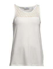 EVA SL LACE TANK TOP ESS - Cloud Dancer