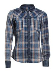 POP IT FITTED DNM SHIRT QYT2-RA8705W-2 - Medium Blue Denim