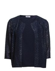 STAR 3/4 CARDIGAN WVN - Mood Indigo