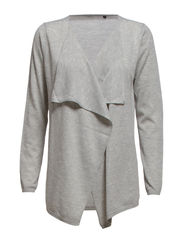 BELIEVE CHENG L/S DRAPEY CARDIGAN NOOS - Light Grey Melange