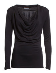 NEW MARGARETHA L/S TENCEL TOP JRS - Black