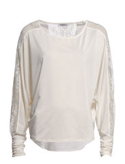 CECILIA L/S TOP JRS - Cloud Dancer