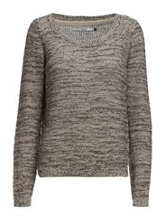 GEENA MOULINE L/S PULLOVER NOOS - Oatmeal
