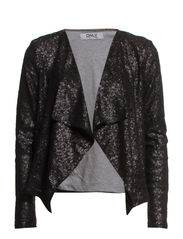 TRUDY L/S CARDIGAN JACKET WVN - Black