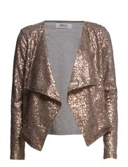 TRUDY L/S CARDIGAN JACKET WVN - Copper