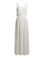 MARYL S/L LONG DRESS WVN - Cloud Dancer
