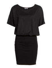 FREJA S/S DRESS D2 JRS - Black