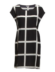 WINDOW S/L DRESS D2 WVN - Black