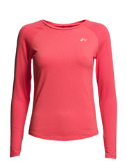 PLAY KARIN LS TRAINING TEE - Fiery Coral