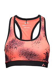PLAY HEATHER TRAINING BRA - Fiery Coral