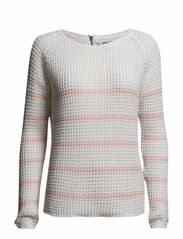 onlTULLA SPRING STRIPE L/S PULLOVER KNT - Cloud Dancer