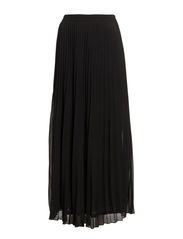 FATALE PLISSE LONG SKIRT WVN - Black
