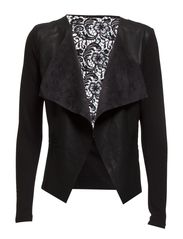 ONLSOUND PU LACE JACKET OTW - Black