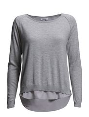 onlLYNN L/S PULLOVER KNT - Light Grey Melange