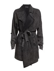 onlCHRISTINA DRAPY TRENCHCOAT OTW - Charcoal Gray