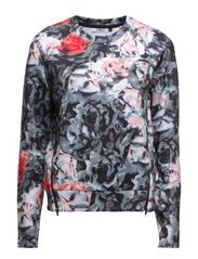 onlNEO FLOWER L/S ZIP SWEAT D2 JRS - Smoked Pearl
