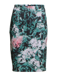onlNEO FLOWER TIGHT SKIRT D2 JRS - North Atlantic