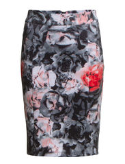 onlNEO FLOWER TIGHT SKIRT D2 JRS - Smoked Pearl