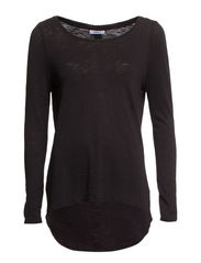 onlCASA L/S BUTTON TOP JRS NOOS - Black