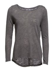 onlCASA L/S BUTTON TOP JRS NOOS - Dark Grey Melange