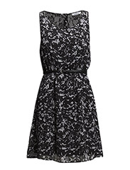 onlLIA LACE SL BELT DRESS WVN RP3 - Black