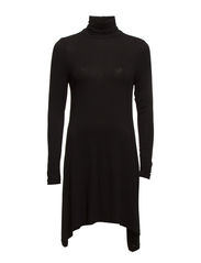 onlGRUNGE TURTLENECK L/S DRESS D2 - Black