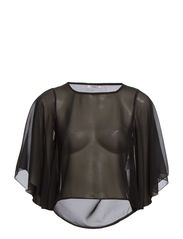onlKAMILLE BATWING TOP PLAIN WVN - Black