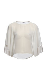 onlKAMILLE BATWING TOP PLAIN WVN - Cloud Dancer