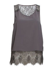 onlELLY LACE S/L TOP WVN - Smoked Pearl