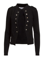 onlANETTE MILITARY SWEAT BLAZER SWT RR4 - Black