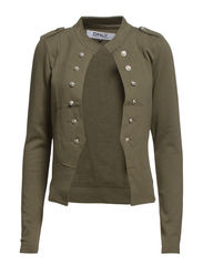 onlANETTE MILITARY SWEAT BLAZER SWT RR4 - Dusty Olive