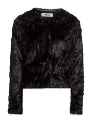 onlRUTH SHORT FUR JACKET OTW - Black