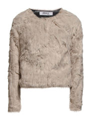 onlRUTH SHORT FUR JACKET OTW - String