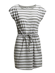 onlAPRIL SS DRESS STRIPE ESS - Light Grey Melange