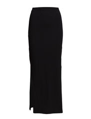 onlABBIE LONG SLIT SKIRT ESS - Black
