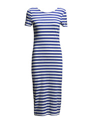 onlABBIE 2/4 STRIPED CALF DRESS ESS - Amparo Blue