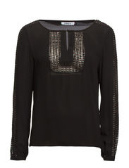 onlDESIRE L/S TOP WVN - Black
