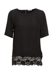 onlNORA LACE 2/4 TOP WVN - Black