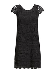 onlARIA S/S DRESS WVN - Black