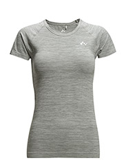 onpBLAKE SEAMLESS SS TEE - Light Grey Melange