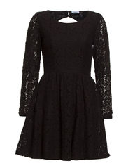 onlFAIRY L/S LACE DRESS WVN RP1 - Black