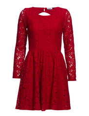 onlFAIRY L/S LACE DRESS WVN RP1 - Jester Red