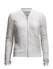 onlSWEET LACE L/S BOMBER JACKET JRS - Cloud Dancer