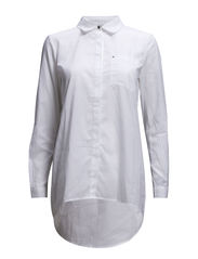 onlLICH L/S LONG SHIRT WVN - White