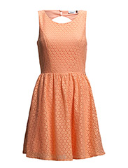 onlFAIRY NEW S/L LACE DRESS WVN - Neon Orange